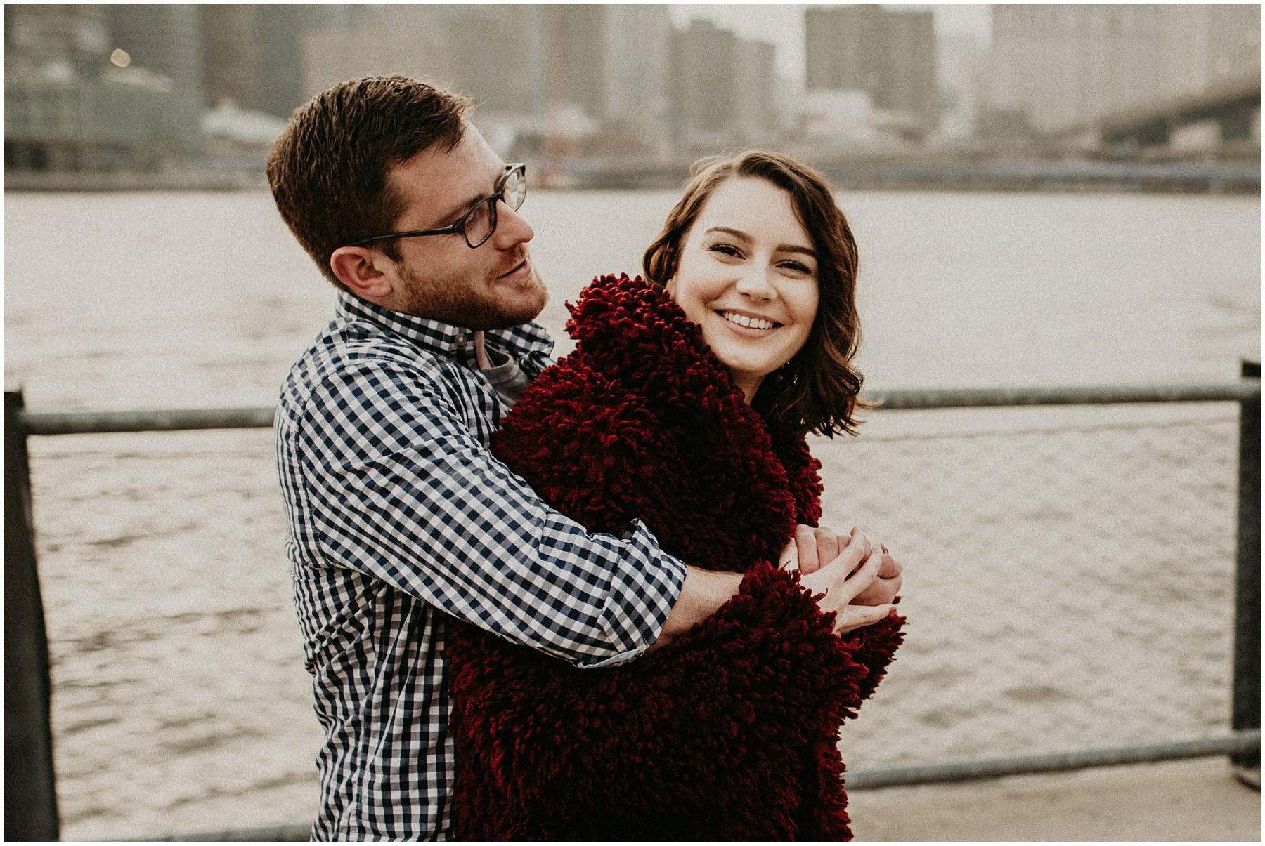 Manhatten couple shoot wedding photographer